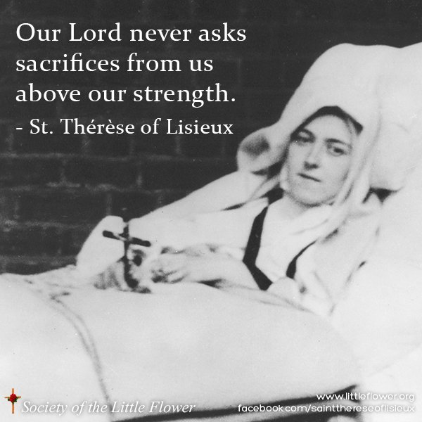 Photo of St. Therese in her final illness.