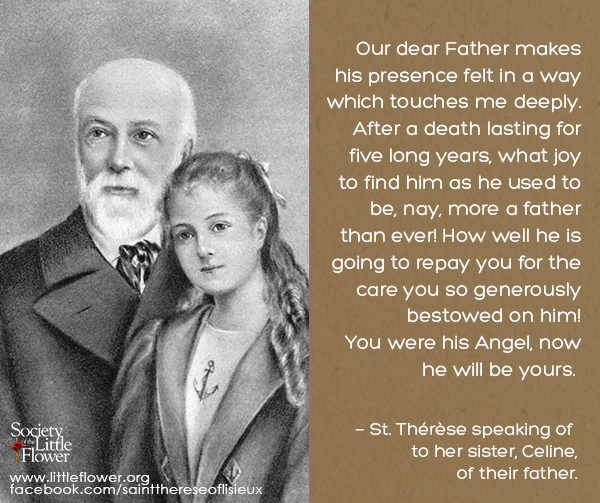 Painting of St. Therese and her Papa.