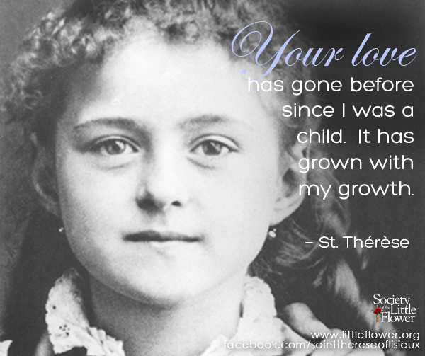 Detail of photo of St. Therese at age 8.