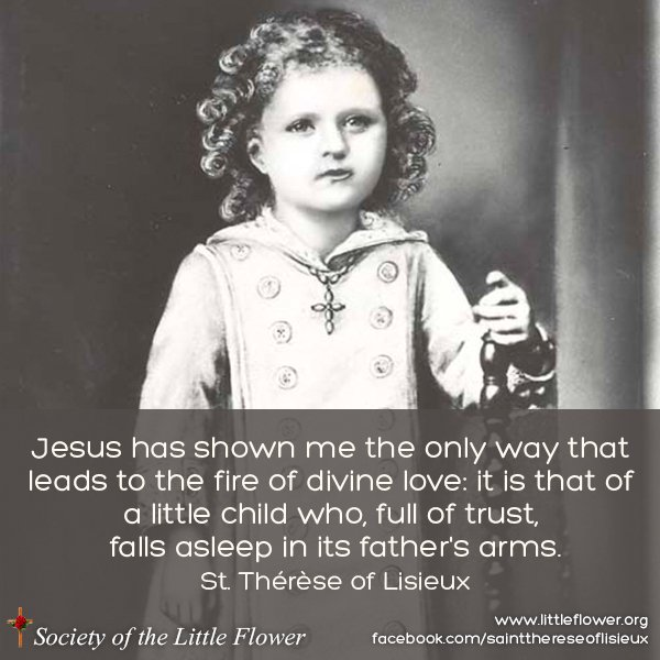 Painting of St. Therese as a small child.