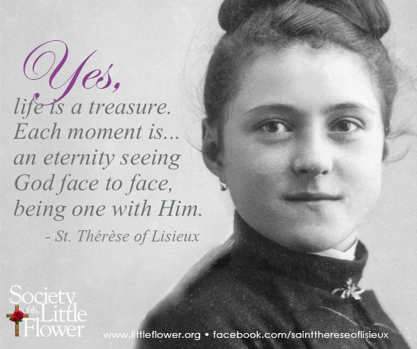 Photo detail of St. Therese of Lisieux at age 16, with her hair put up in an effort to look older.  Therese wanted her Bishop to give her permission to enter Le Carmel early.