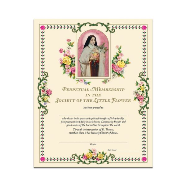 Life and Death Perpetual Mass Enrollment Certificate