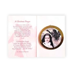 St. Therese round Christmas ornament