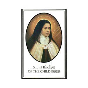 St. Therese Novena Rose Prayer Card