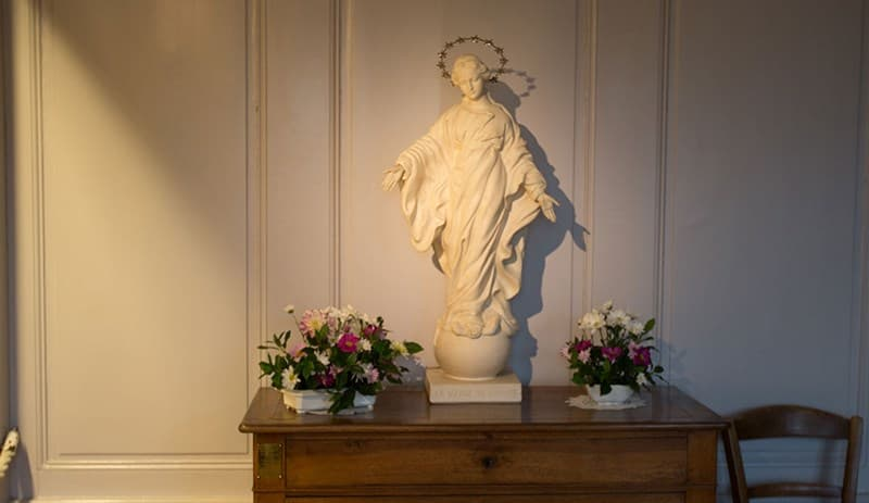 Our Lady of the Smile statue at Les Buissonnets in France