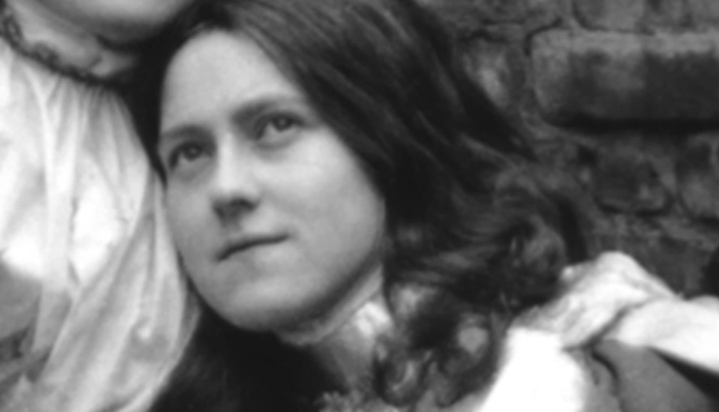 Photo of St. Therese playing Joan of Arc