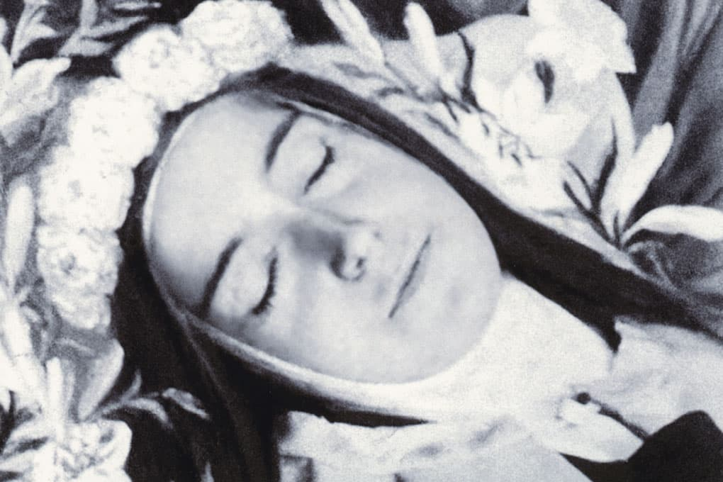 Detail of St. Therese at her funeral