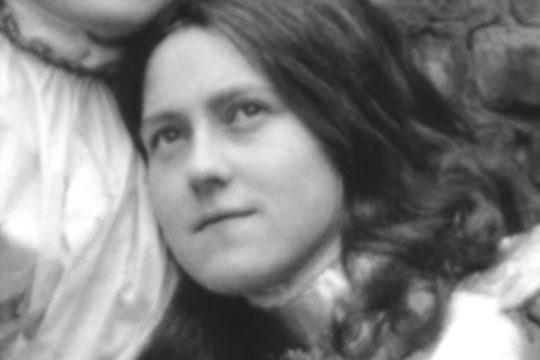 Photo of St. Therese playing the role of Joan of Arc