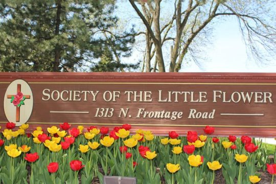 Society of the Little Flower sign